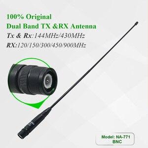 Image 2 - 100% Original Nagoya NA 771 BNC Antenna 144/430Mhz Walkie Talkie Antenna For IC V8 IC V82 IC V85 TK308 Two Way Radio