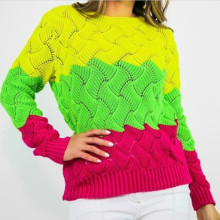Turtleneck Fashion Rainbow Sweaters Knitted Pullovers Women New Winter Sweater Loose Pullover Jumpers Female Rainbow Sweater female korean harajuku hong kong flavored loose rainbow stripe sweater women s pullover sweaters