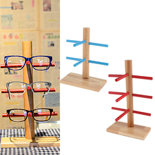 2x Wood Display Stand For Sunglasses 3D Glass Display Stand