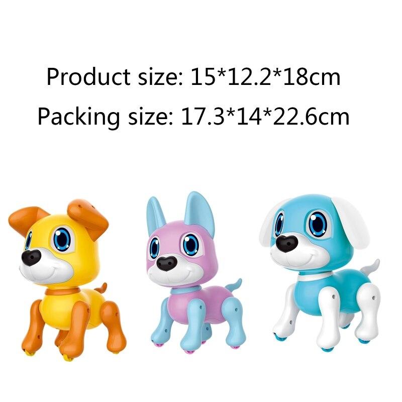 Cute Robot Dog Robotic Puppy Smart Gesture Sensor Interactive Toy Cartoon Model Birthday Gifts for Kids H055