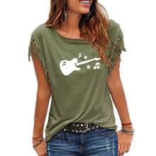 Guitar Music Printed Women T Shirt Cotton Sleeve Funny 2019 Summer Tee Shirt Femme T-shirt for Women