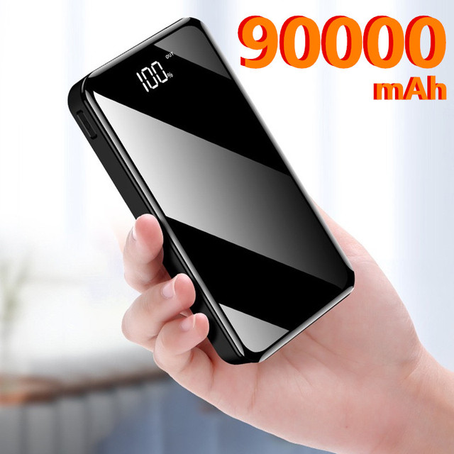 Phone Power Bank 90000mAh USB Type C 50000mAh Powerbank External Battery Charger Poverbank For iPhone 11 For Xiaomi 1