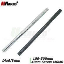 10pc Dia6/8mm LED Straight Hardpipe Flexible led gooseneck extend metal holder 5-50cm M6 4cm screw for Jewelry/Counter light diy