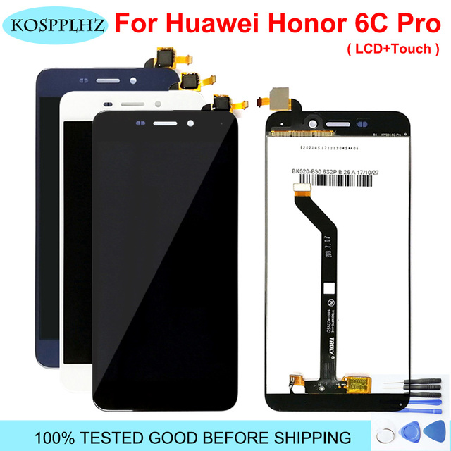 For Huawei Honor 6C Pro LCD Display and Touch Screen Digitizer Glass Replacement Honor 6C Pro JMM L22 JMM AL10 AL00 LCD + Tools