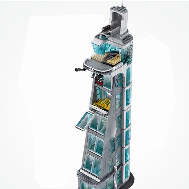 Marvel Super Heroes ชุด Avengers Tower Stark Iron Man Infinity War ภาพยนตร์บล็อกของขวัญของเล่น Figuras-ใน บล็อก จาก ของเล่นและงานอดิเรก บน   2
