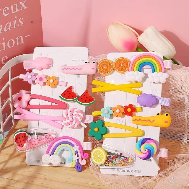 17Km Mode Snoep Regenboog Fruit Haar Clip Voor Baby Meisjes Kinderen Kids Haarspeld Bloem Cartoon Vrouwen Baret Haar Accessoires