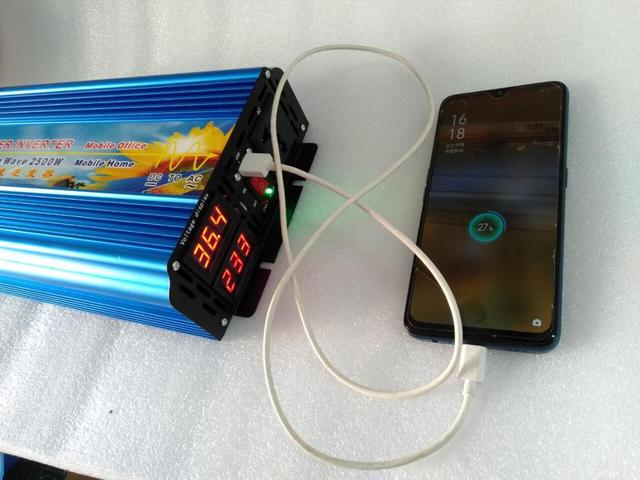 Novo modelo Inversor Energia 2500W 12V/24V/36V/48V için 110V/120V/220V/230V 50hz/60hz Onda Pura ekran de dupla voltagem com USB