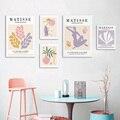 Matisse Винтаж плакатов и художественная печать на холсте цветок линия картины Morandi Цвет Wall Art декоративная картина дом Гостиная