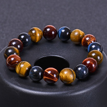 Fashion 8mm 10mm 12mm colorful Tiger eyes Beads Bracelet Men Charm Natural Stone Braslet For Man Handmade Jewelry Gifts Pulseras fashion obsidian tiger eye stone bracelets for men new natural stone beads man bracelet men charm yoga jewelry gift 2020 pulsera