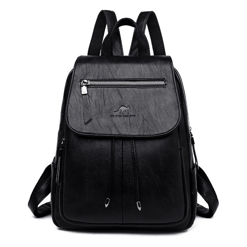 Fashion Leather Backpack Female 2019 New Student Shoulder Bag Teenager Outdoor Large Capacity Casual Travel Backpack For Women