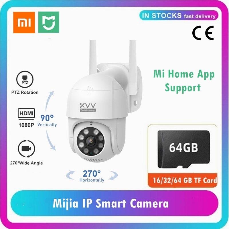 Умная наружная IP-камера Mijia Xiaomi P1 1080P PTZ Mi Home, Поворотная веб-камера с Wi-Fi, с обнаружением присутствия, водонепроницаемые камеры безопасности