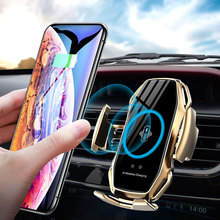 Qi Car Wireless Charger For IPhone 11 Pro X XR XS Max Galaxy S10 S9 Smart Automatic Clamping Fast Charging Air Vent Phone Holder