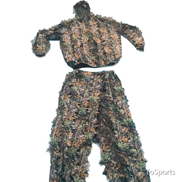 3D Leaf Camouflage Clothing Hunting Clothes New Bionic Suits Camouflage Clothing Jacket And Pants Polyester Oxford Fabric 6