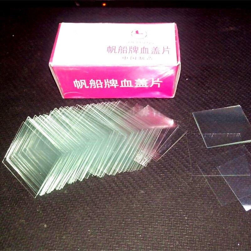 Cobertura de sangue 22mm x 26mm para a câmara de contagem de células de sangue desobstruído slides cobrir o uso de vidro com hemocitômetro neubauer 100 pces/pk