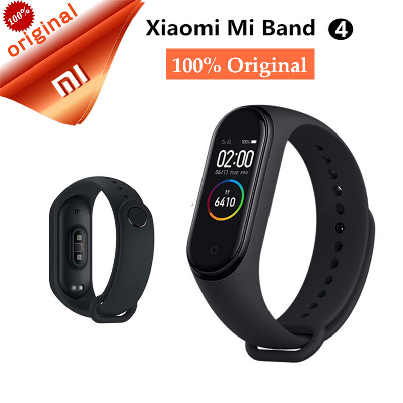 Newest Xiaomi Mi Band 4 AMOLED Color Screen Music Smart Miband 4 Bracelet Sleep Heart Rate