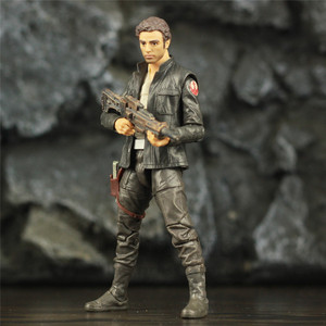 "Image 2 - SW 6"" Captain POE Dameron Action Figure Movie TLJ Original Black Series Collectable Wars Doll Toys Model"