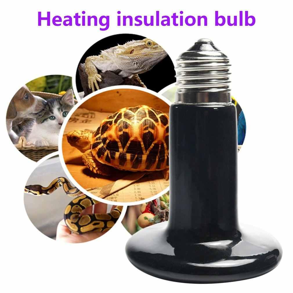 IR Isı Yayıcı Basking Seramik Ampul 25 W/50 W/75 W/100 W/150 W /200W Sürüngen kızılötesi ısıtıcı lamba Pet sürüngenler ve amfibiler
