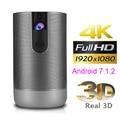 Портативный 3D dlp проектор D29 1920 1080p, встроенный проектор Full HD 720P, ручной проектор Android Wi-Fi 4K, домашний проектор со встроенной батареей