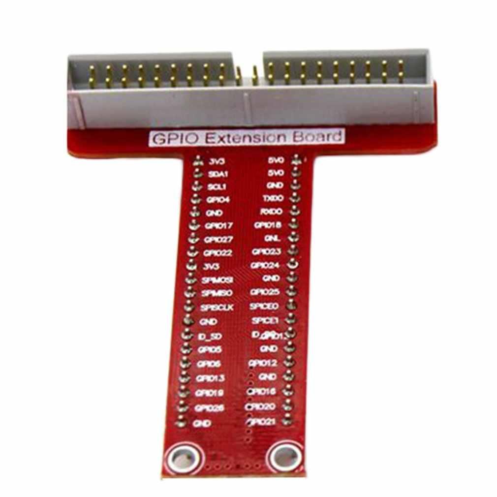 Nouvelle carte d'extension en forme de T + ensemble de câbles GPIO pour framboise Pi B + Pi 2 portable durable