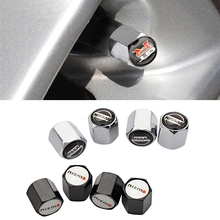 Tire-Valve-Caps Wheel Nissan Dust-Cap Tyre Xterra 4pcs for GTR Nismo Z-Logo X-Trail Qashqai