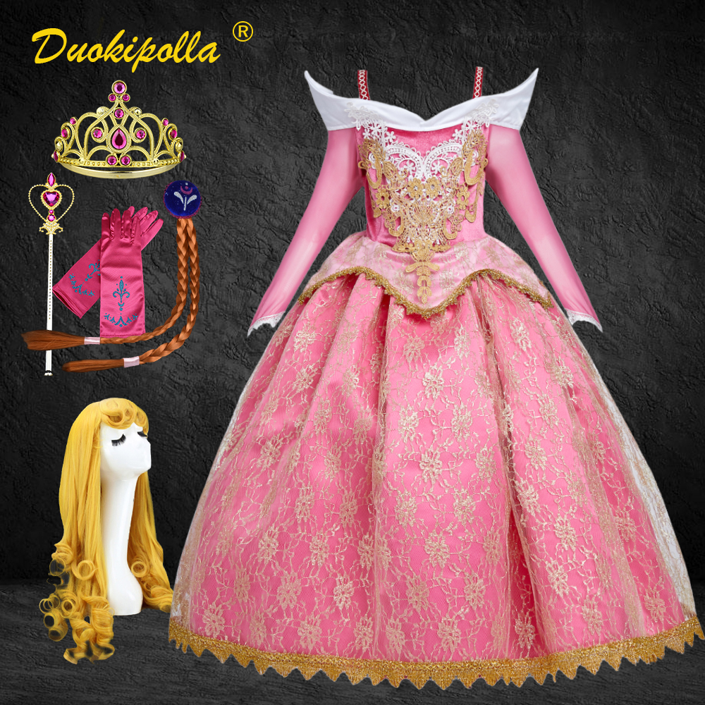 sleeping-beauty-halloween-carnival-costume-child-lace-girls-princess-aurora-dress-pink-embroidery-infant-party-dress-wig-hair