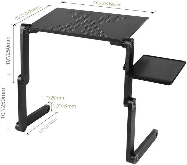 Ergonomic Magic Laptop Desk with Cooling Fan- Portable  4