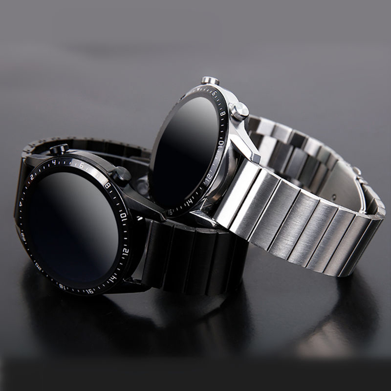 Huawei GT 2 Strap For Samsung Galaxy Watch Active 2/46mm/42mm/Gear S3 Frontier Band 20/22mm Stainless Steel Metal Bracelet Band
