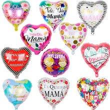10cps/set Mamãe Balões Folha 18 polegada Espanhol Feliz dia Mãe Dia das Mães Aniversário Decorações Do Partido crianças Quiero adultGlobos