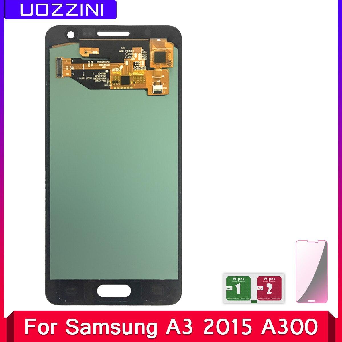 Pantalla LCD A3 Super Amoled para Samsung Galaxy A3, 2015, A300, A3000, montaje de pantalla táctil, 2 uds.