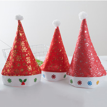 Classic Red Santa Hat Winter Warm Christmas High-grade Plush Soft Hat Christmas Decorations Holiday Party Supplies spiral style plush christmas hat red white