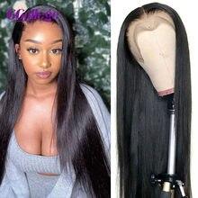 Perucas frontais do laço do cabelo humano para as perucas do cabelo humano peruano peruca do fechamento 4x4 13x4 peruca frontal do cabelo humano em linha reta remy 150%