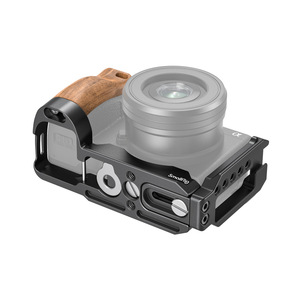 Image 3 - SmallRig A6400 L braketi plaka ile ahşap saplı Sony A6400/A6300/A6100 arca swiss standart L plaka montaj plakası 2331