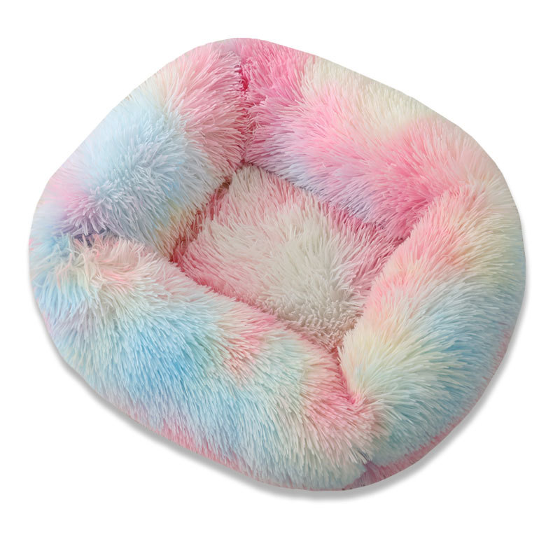 Super Soft Dog Bed House Dog Mat Plush Cat Mat Cats Nest For Large Dogs Bed Labradors House Round Cushion Pet Product Supplies 14