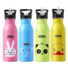 500ml Water Bottle For Children Stainless Steel Sports Bottles Kid Gift Cute Water Bottle Outdoor Sports Camping Bicycle School 500ml outdoor camping bicycle stainless steel vacuum preservation water bottle