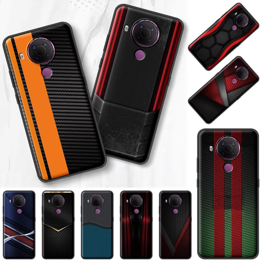 Sports Car Carbon Fibre Black Case For Nokia 7.2 5.3 2.3 3.4 1.4 5.4 2.4 4.2 3.2 8.3 5G 1.3 2.2 C3 C2