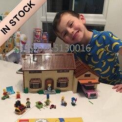 16005 83005 в наличии мультфильм создатель фильм Симпсоны дом 71006 уличный вид 2575 шт модель строительные блоки кирпичи игрушки
