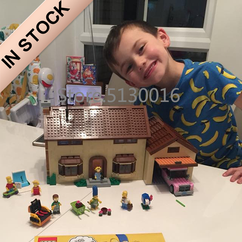 16005 83005 In Stock Creator Cartoon Movie The Simpsons House 71006 Street View 2575Pcs Model Building Blocks Bricks Toys