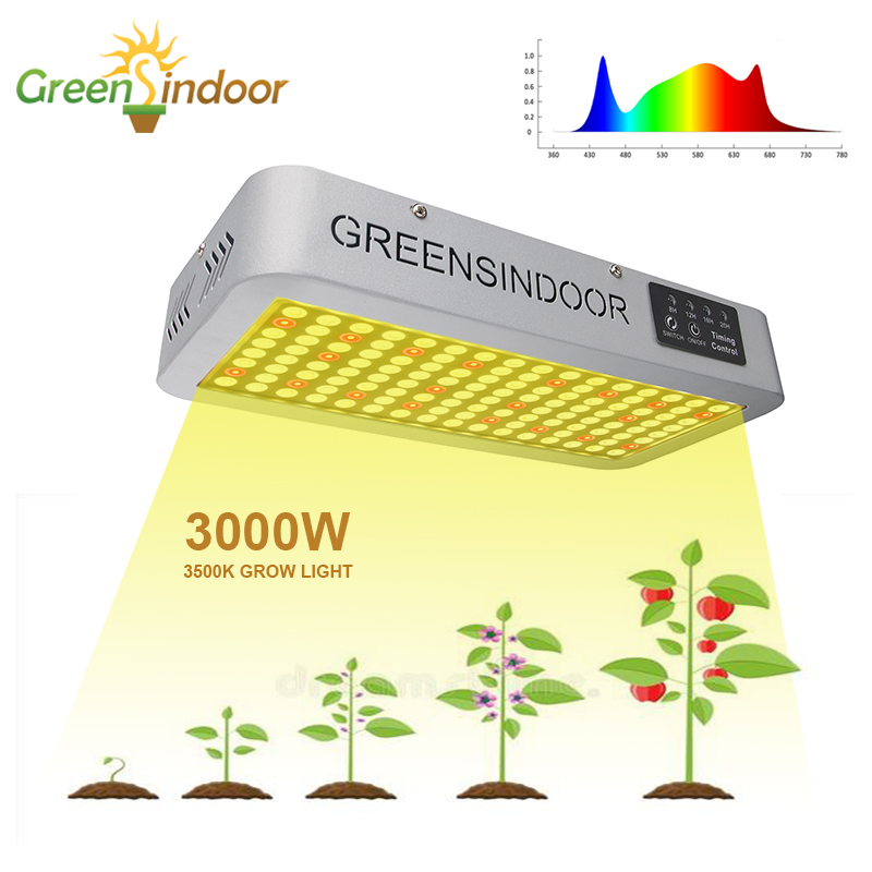 Indoor Phyto Lamp For Plants 3500K 3000W LED Grow Light Full Spectrum Warm Light For Medical Plants Flowering Herbs Grow Light