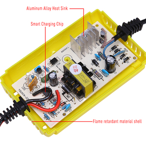 Image 5 - 12V 2A Smart Car Motorcycle Battery Charger Full Automatic LED Display 12V Volt For Moto Auto Lead Acid AGM GEL Accumulators