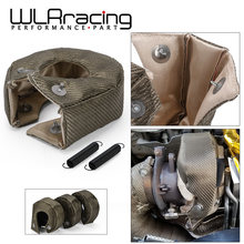 Wlr-100% Full Titanium T3 Turbo Deken Turbo Hitteschild Fit: t2 T25 T28 Gt28 Gt30 Gt35 En Meest T3 Turbo WLR1303-2T/TBF03(China)