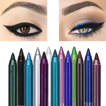 12 Color Long-lasting Eyeliner Pencil Waterproof Pigment Green Brown eyeliner  1