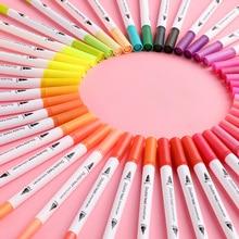 100 color soft head watercolor pen color pen 48 color art painting pupils special washable hand-painted brush set Art supplies все цены