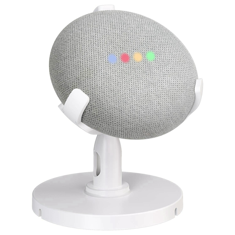 Table Holder For Google Home Mini Voice Assistants, 360 Degree Rotated Desktop Stand Mount - Improves Sound Visibility And Appea