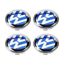 4 х 56 мм синий логотип эмблема значок сердечник колеса Кепки 1J0 601 171 для VW Volkswagen Jetta Golf Beetle CC GTI