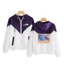 jackets women 2019 Female Zipper Pockets Casual Long Sleeves Coats Son of the weather Hooded Jacket Two Tone Windbreaker