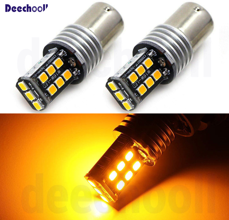 2 x BAU15S PY21W LED <font><b>1156</b></font> <font><b>P21W</b></font> <font><b>Canbus</b></font> LED Bulbs For BMW F22 F30 F32 2 3 4 Series Rear Turn Signal Lights or Brake/Tail Lights image