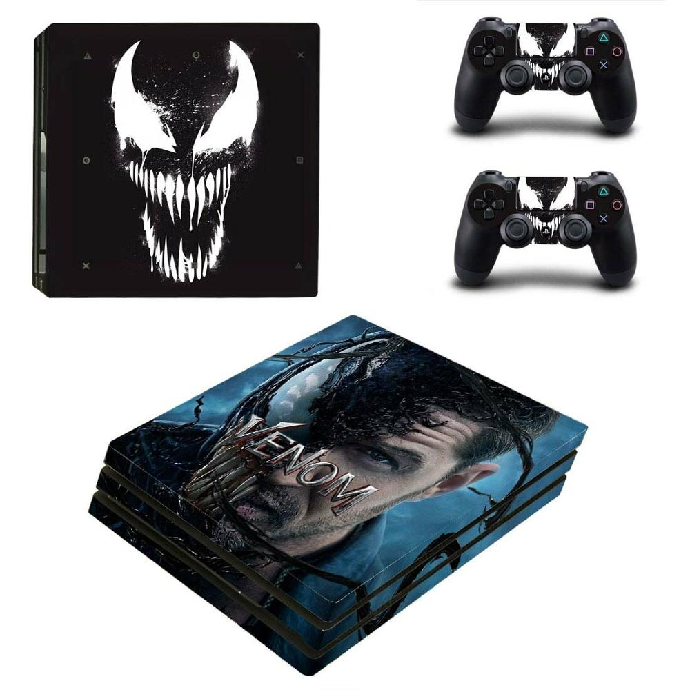 Venom PS4 Pro Stickers PS 4 Play station 4 Pro Vinyl Skin Sticker Decals Pegatinas For PlayStation 4 Pro console and controller image