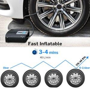 Image 2 - WINDEK sprężarka samochodowa do pompy samochodowej pompa do opon 12V sprężarka powietrza przenośne cyfrowe pompki do opon