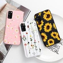 Чехол для телефона Samsung Galaxy A41, чехол 6,1 дюйма, цветы, бабочки, мягкие силиконовые чехлы для Samsung A 41 a41, задняя крышка, защитные чехлы