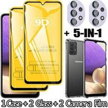 סרטי מזג זכוכית samsung a32 5G טלפון מסך מגן עבור סמסונג גלקסי a32 מצלמה סרט סמסונג a50 a71 a51 a32 זכוכית מקרה
